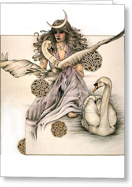 Morgaine Greeting Card by Johanna Pieterman