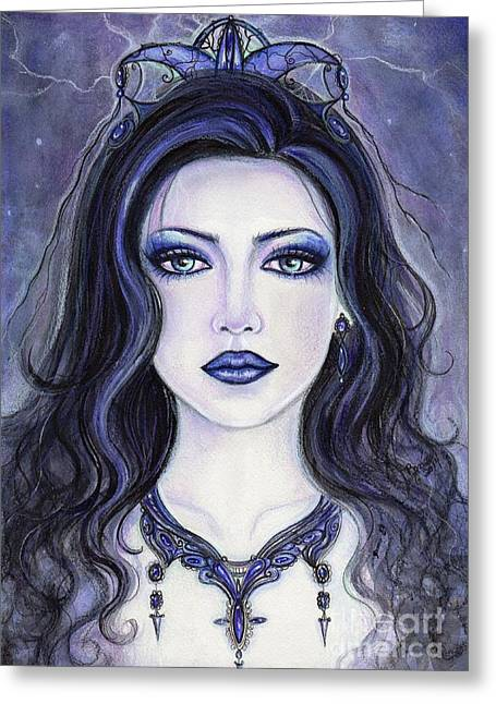 Morgan Le Fay Greeting Card by Renee Lavoie
