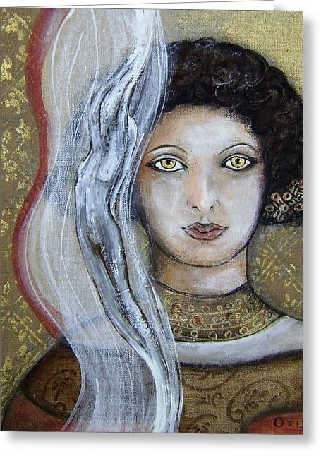 Morgan Le Fay's Enchantments Greeting Card by OvidiO Art