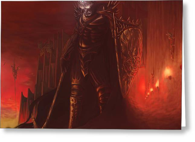Morgoth In Angband Greeting Card by Rick Ritchie