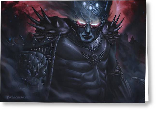 Morgoth  The Black Foe Greeting Card by Rick Ritchie