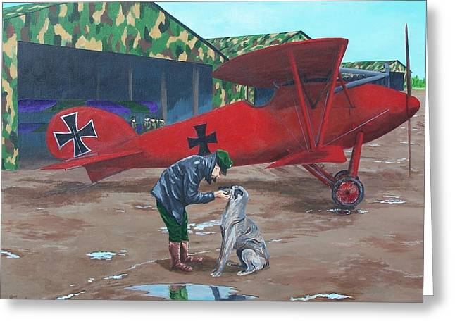 Moritz And Richthofen Greeting Card by Gene Ritchhart