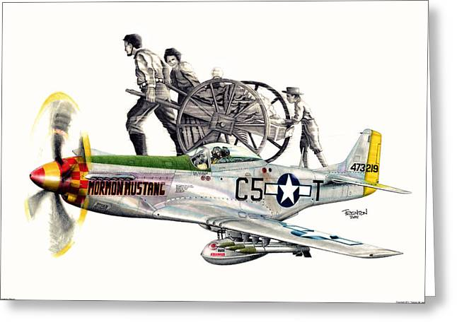 Mormon Mustang - Pioneering History Greeting Card by Trenton Hill