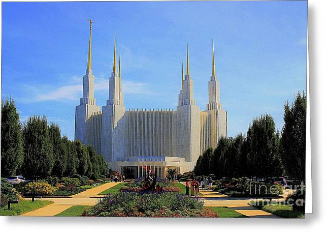 Mormon Temple Dc Greeting Card