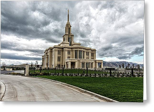 Mormon Temple Payson Utah Greeting Card by James Hammond