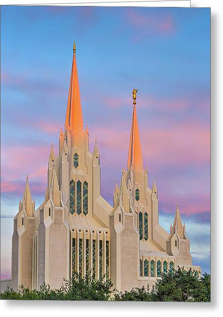Mormon Temple Greeting Card by Peter Tellone