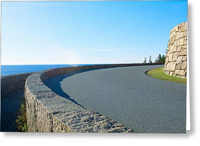 Rural Maine Roads Greeting Cards - Morning, Acadia National Park, Maine Greeting Card by Panoramic Images