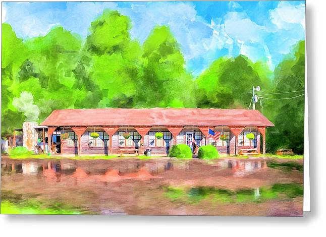 Morning After The Rain - Oglethorpe Barbecue Greeting Card by Mark Tisdale