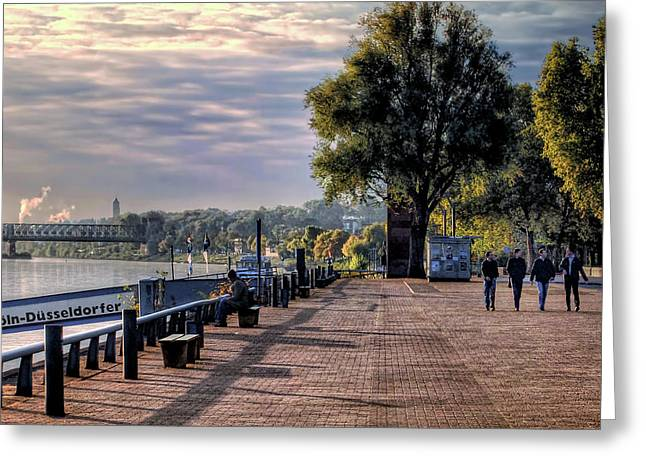 Greeting Card featuring the photograph Morning Along The Rhine by Jim Hill