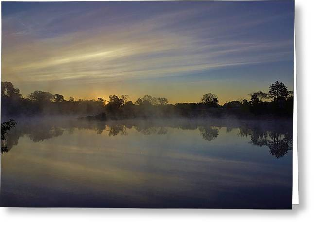 Morning Arrives At The Red Granite Quarry Greeting Card by Carol Toepke