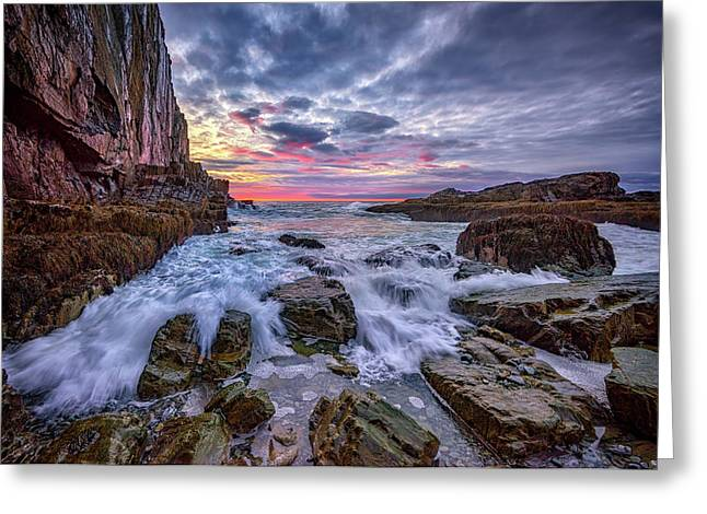 Morning At Bald Head Cliff Greeting Card by Rick Berk
