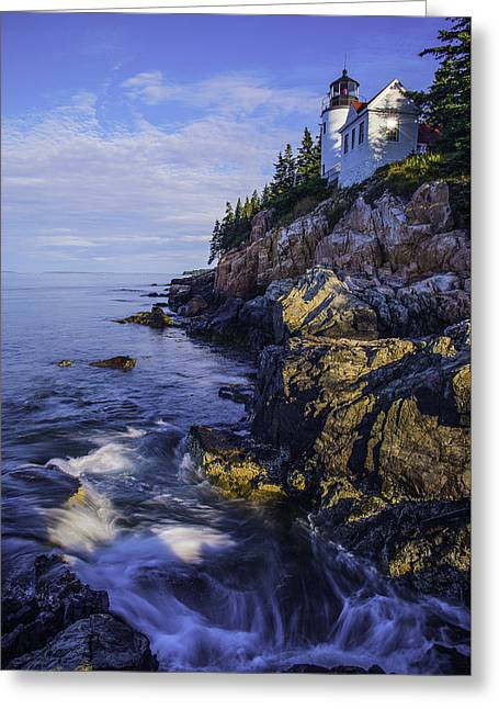 Morning At Bass Harbor Lighthouse Greeting Card