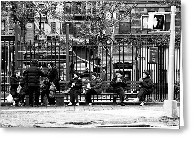 Greeting Card featuring the photograph Morning At Columbus Park by John Rizzuto