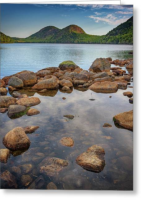 Morning At Jordan Pond Greeting Card by Rick Berk