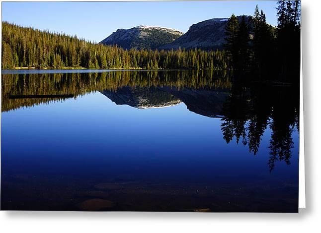 Morning Reflection At Mirror Lake Greeting Card by James Mikkelsen