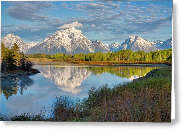 Greeting Card featuring the photograph Morning At Oxbow Bend by Joe Paul