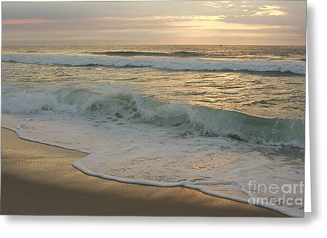 Greeting Card featuring the photograph Morning  At The Beach by Nicola Fiscarelli