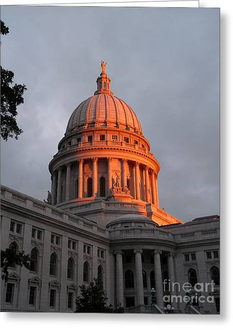 Morning At The Capitol Greeting Card by David Bearden