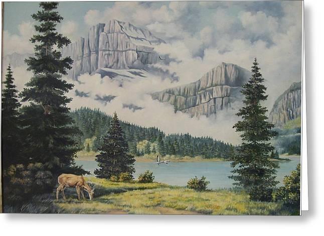 Morning At The Glacier Greeting Card