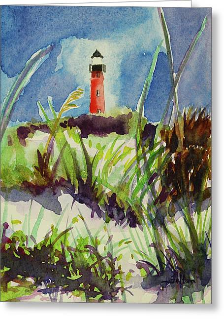 Morning At The Lighthouse Greeting Card