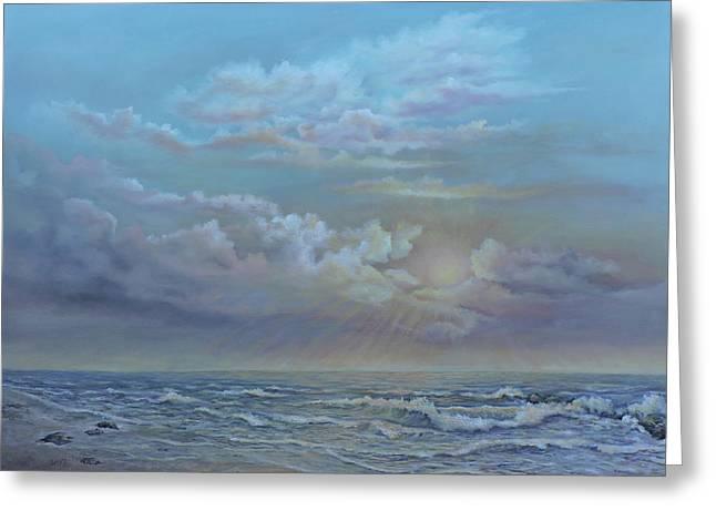 Morning At The Ocean Greeting Card