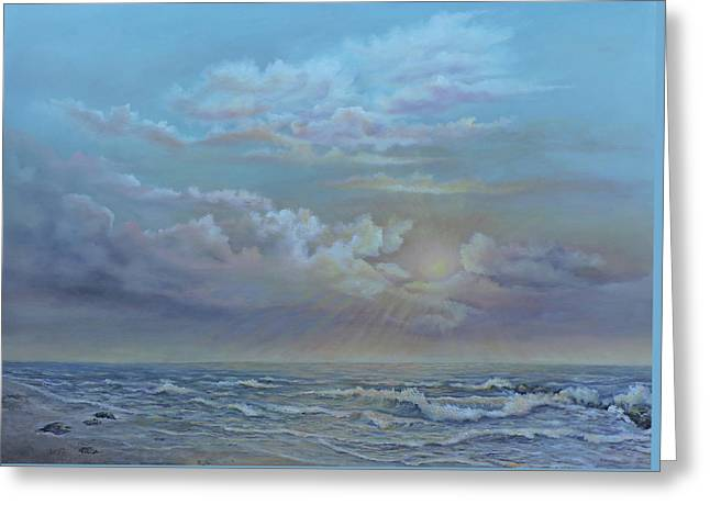 Morning At The Ocean Greeting Card by Luczay