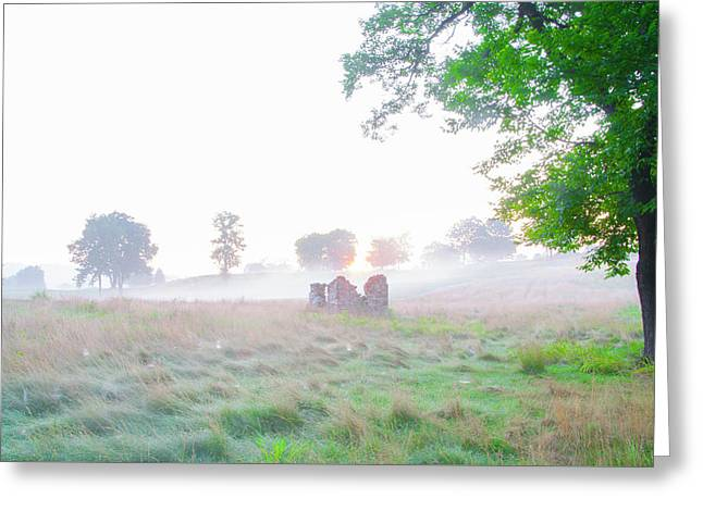 Morning At The Philadelphia Cricket Club - Flourtown Pa Greeting Card by Bill Cannon