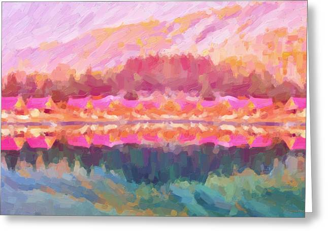 Morning At The Pink Lake No.3 Greeting Card