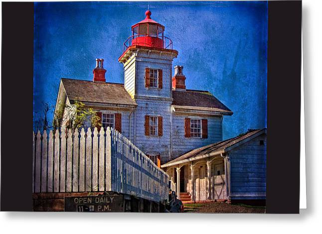 Morning At The Yaquina Bay Lighthouse Greeting Card