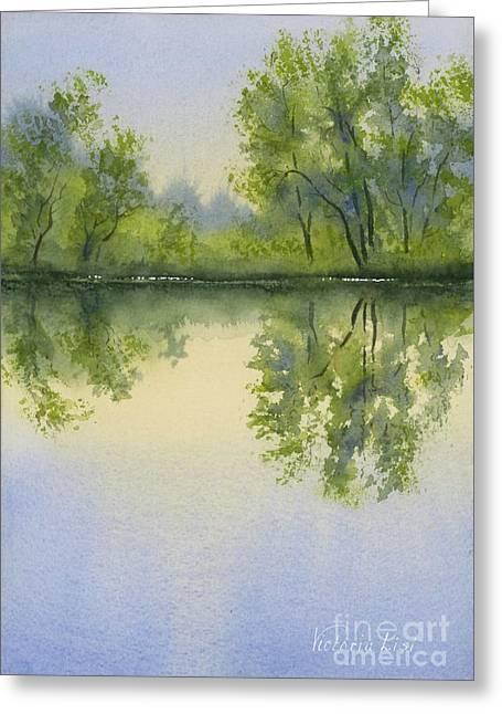 Morning At Turtle Pond Greeting Card