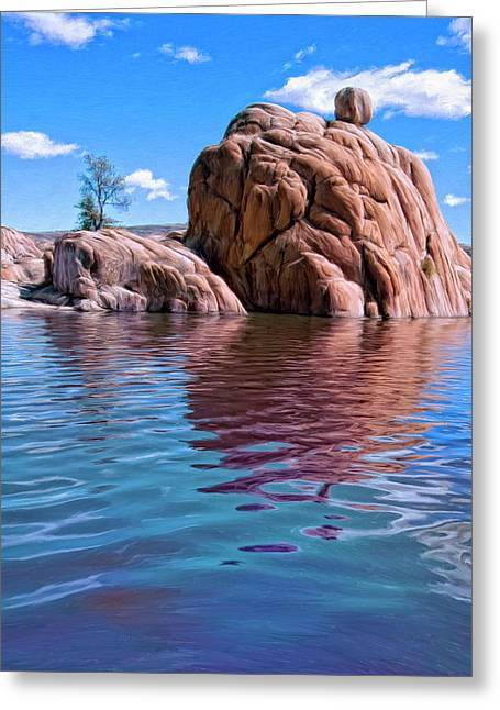 Watson Lake Greeting Cards - Morning at Watson Lake Greeting Card by Dominic Piperata