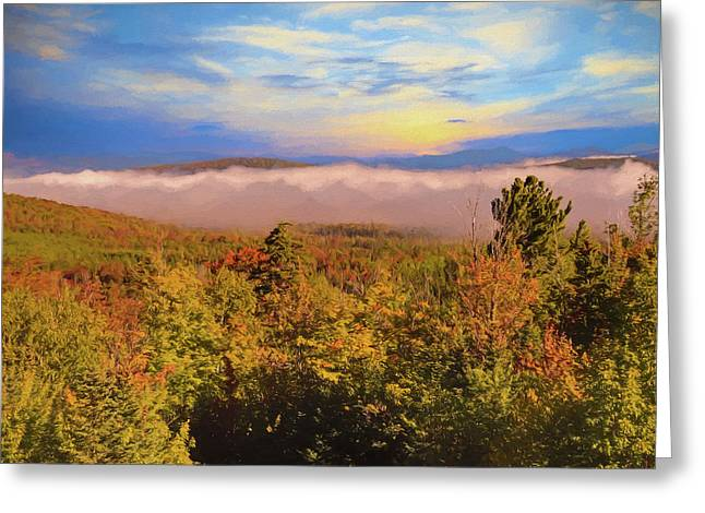 Morning Autumn Landscape Northern New Hampshire Greeting Card