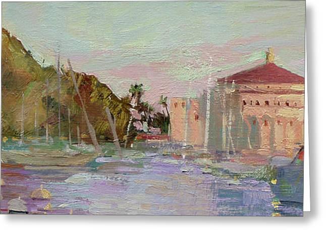 Morning Avalon Harbor - Catalina Island Greeting Card