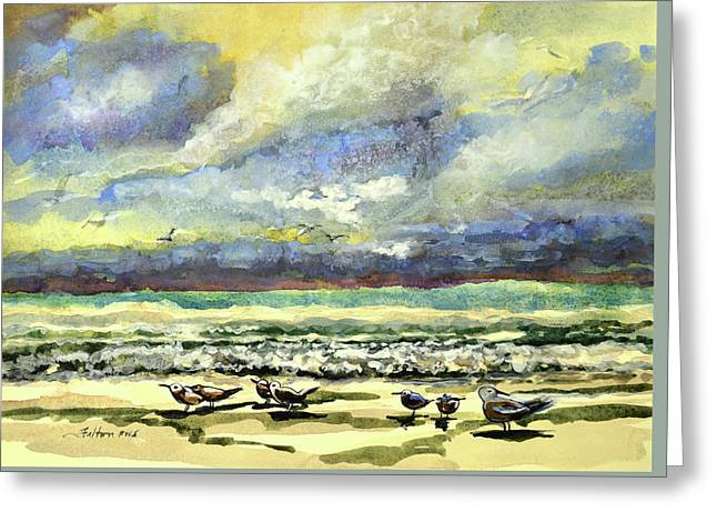 Morning Beach Birds Greeting Card