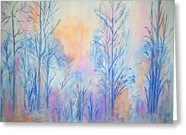 Greeting Card featuring the painting Morning by Belinda Lawson