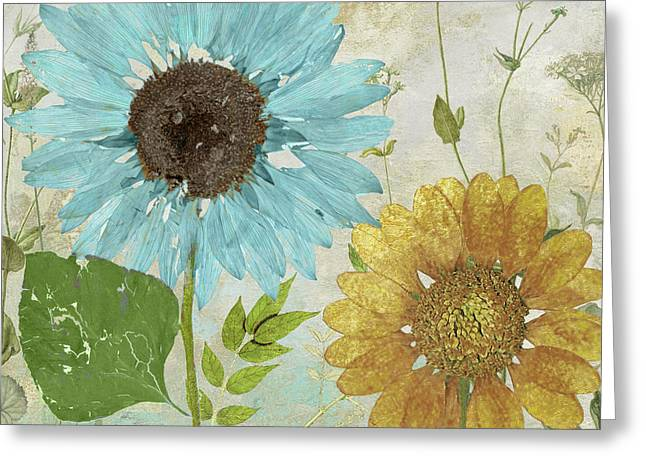 Morning Blue I Greeting Card by Mindy Sommers