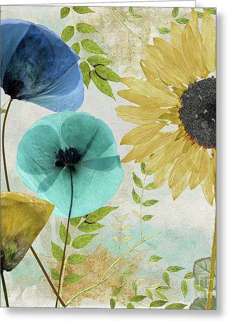 Morning Blue II Greeting Card by Mindy Sommers