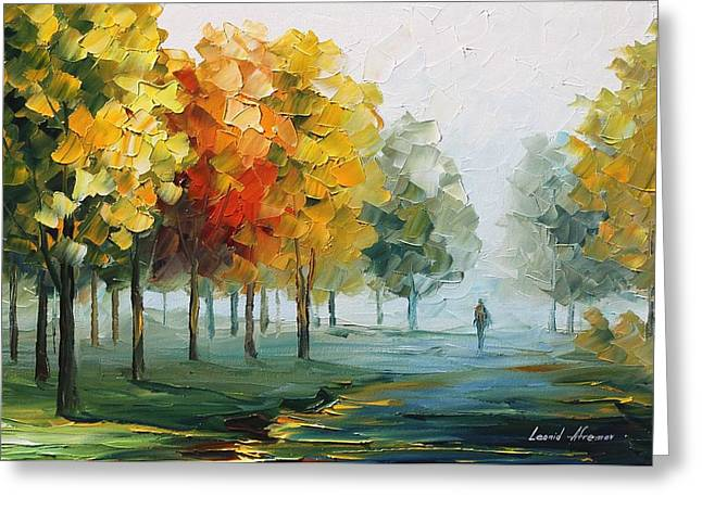 Morning Breeze Greeting Card by Leonid Afremov