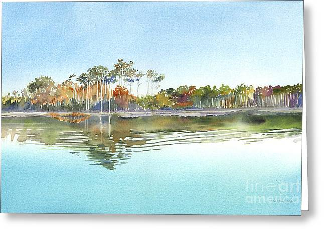 Morning Calm Greeting Card by Amy Kirkpatrick