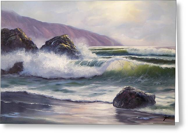 Greeting Card featuring the painting Morning Calm by Joni McPherson