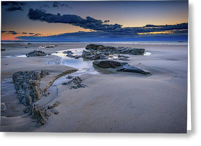 Morning Calm On Wells Beach Greeting Card by Rick Berk