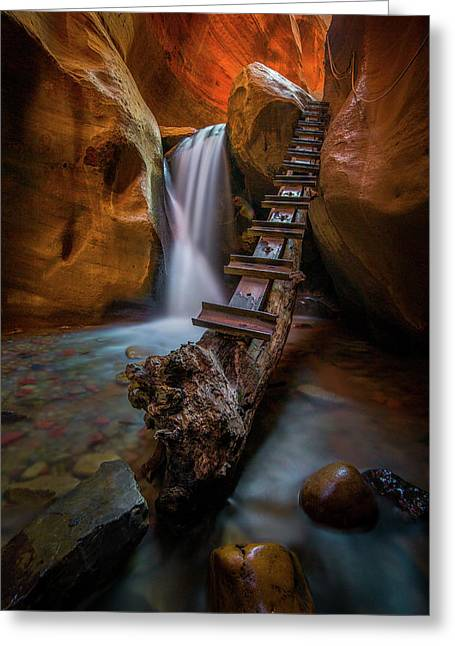 Morning Canyon Glow // Kanarra Falls, Utah Greeting Card