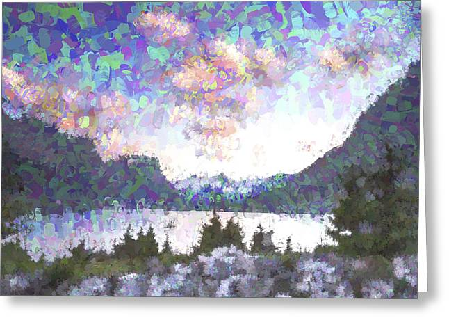 Morning Colors On The Lake II Greeting Card