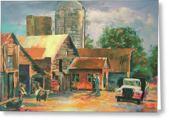 Morning Conference Greeting Card by Carol Strickland