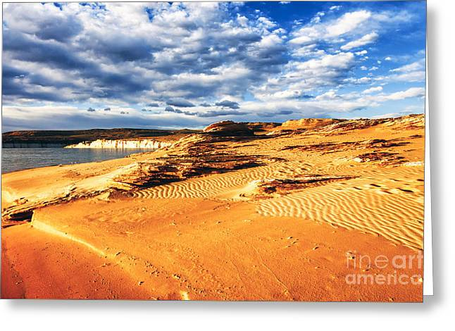 Morning Couds Lake Powell Greeting Card by Thomas R Fletcher