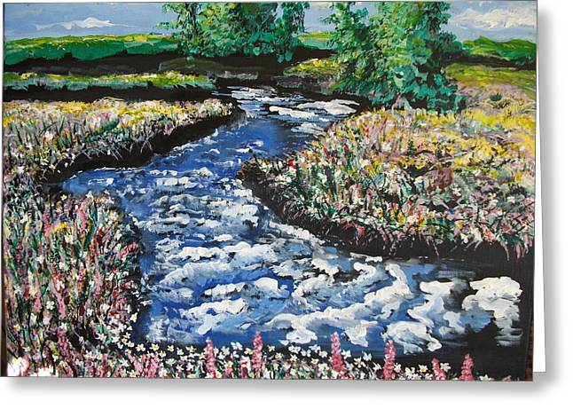 Morning Creekside Greeting Card