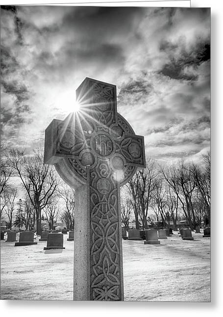 Greeting Card featuring the photograph Morning Cross by Guy Whiteley