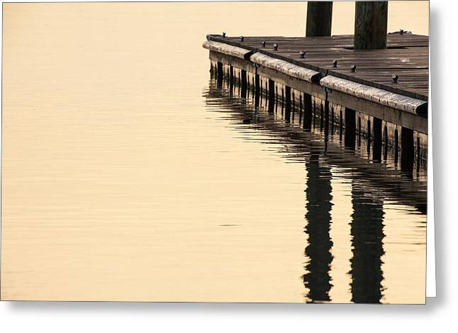 Morning Dock Greeting Card by Karol Livote