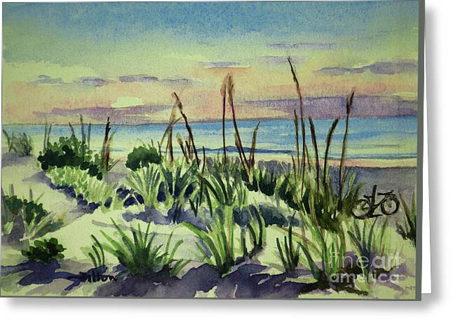 Morning Dunes  7-7-2017 Greeting Card