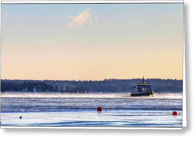 Morning Ferry Greeting Card